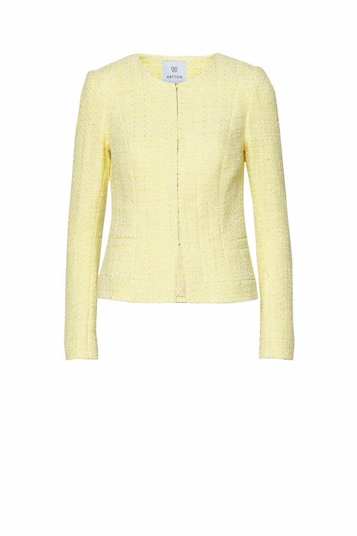 Żółty żakiet w stylu Chanel ARYTON wiosna-lato 2014