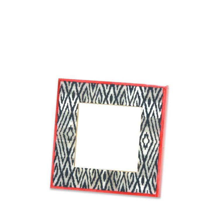 Black, White & Red Trim Frame