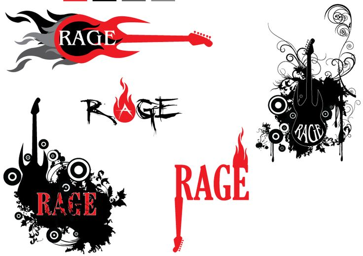 logo designs for a rock music band