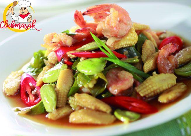 Resep Udang Tumis Jagung Putren, Resep Masakan Serba Tumis, Club Masak