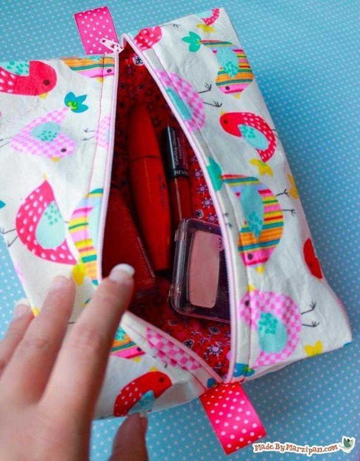 FREEBIE Boxy LINED Zipper Bag   Craftsy