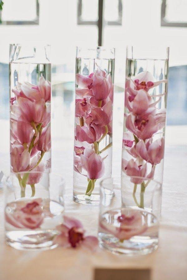 Apenas Três Palavras: Sim, Eu Aceito!: Decoração com Flores Submersas