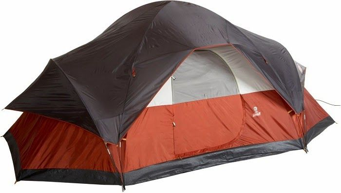 Coleman 8-Person Red Canyon Best Top Rated Camping Tent Under $200