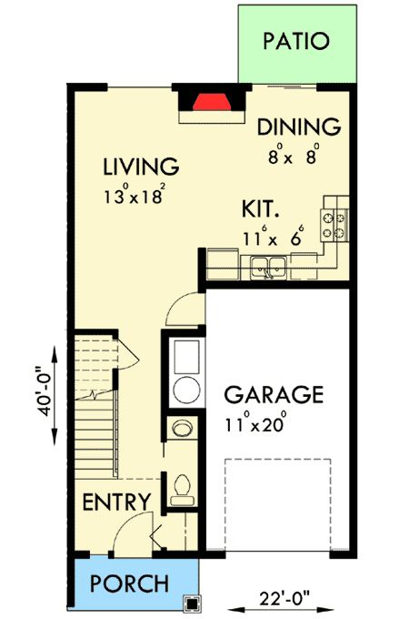 1000 images about duplex plans on pinterest 3 car for Triplex plans one story