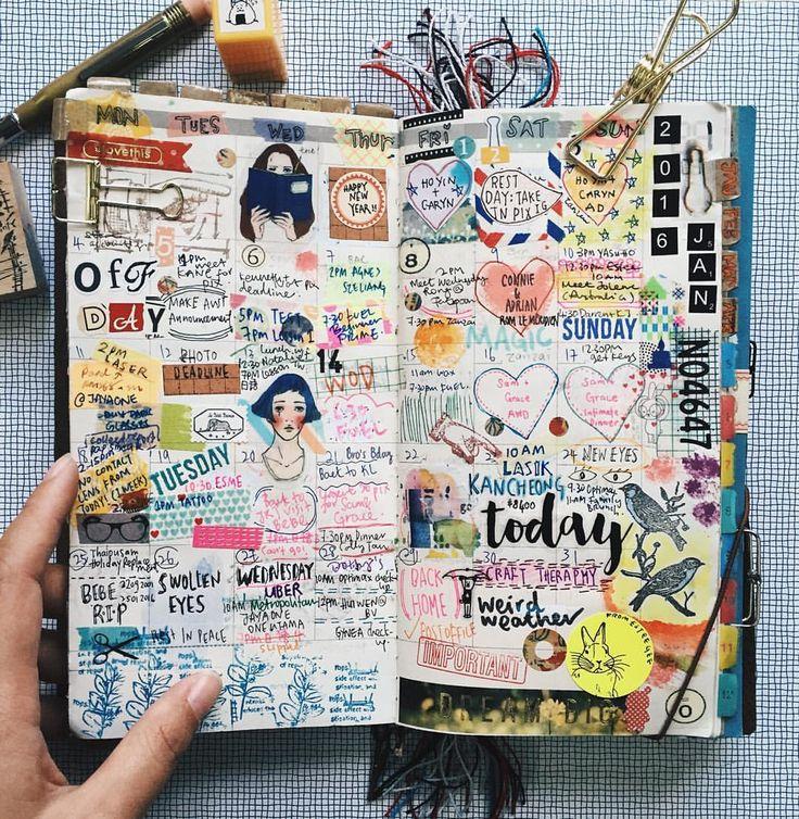 Art Journal Calendar Pages : Best images about art journal love on pinterest