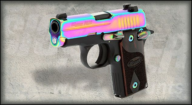 Sig Sauer .380 P238 Rainbow! Concealed Carry pocket pistol. I WANT THIS! Nothing beats a Sig baby!
