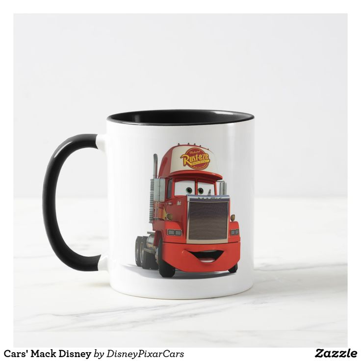 Cars' Mack Disney. Producto disponible en tienda Zazzle. Tazón, desayuno, té, café. Product available in Zazzle store. Bowl, breakfast, tea, coffee. #taza #mug