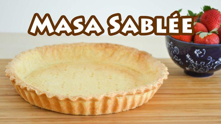 Masa básica para tartas y masitas ✩ Masa Sablée || TAN DULCE Harina 0000 250 gr Azúcar impalpable ( glas, en polvo) 100 gr Mantequilla 150 gr Yemas 3 Esencia de vainilla 1 cucharadita Sal 1 pizca