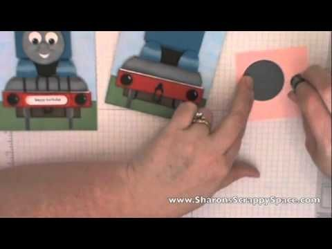 Thomas The Train Punch Art Video  www.SharonsScrappySpace.com