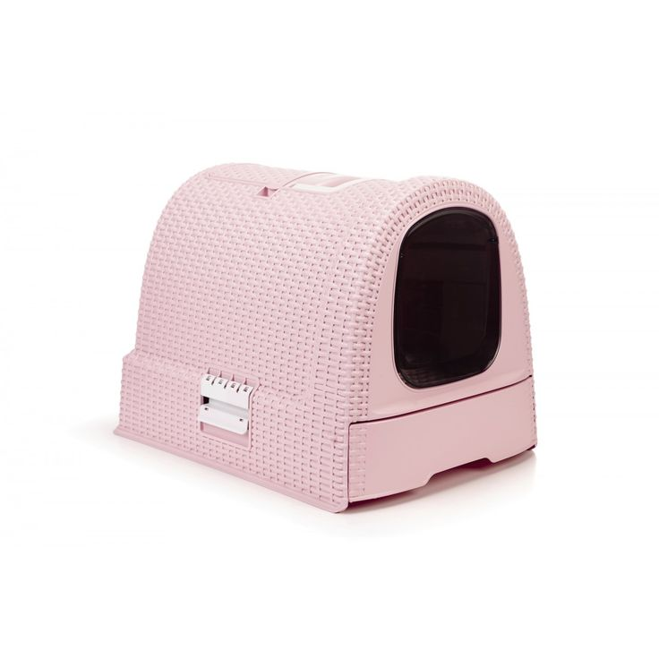 Curver Katzentoilette in der Farbe Rosa. Ein damenhaftes Örtchen für das wichtigste Geschäft unserer Katzendamen.