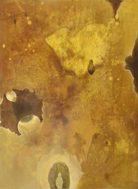 """""""Gida's Garden"""" fluid acrylic on paper"""
