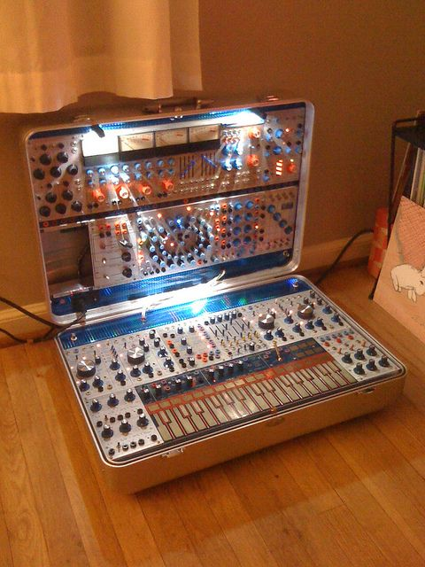 I don't have it but I would sure love one! Portable suitcase modular synth - awesome!!