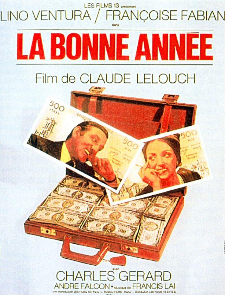 """""""La.Bonne.Année"""" de Claude Lelouch avec Françoise Fabian, Lino Ventura, Charles Gérard.1973."""