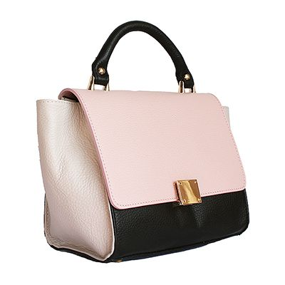 Designer Style Origami Pink Leather Handbag (Small Size) - Down to £39.99 from £49.99