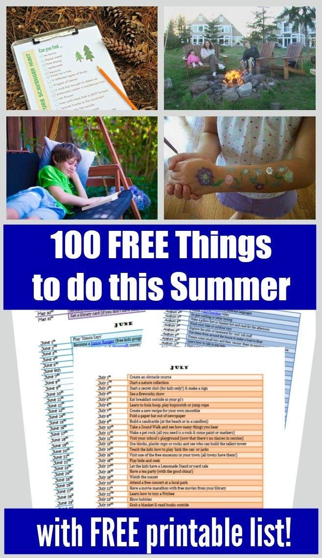 100 Free Kids Summer Activities Near Me Summer Activities Free Summer Activities Activities Near Me