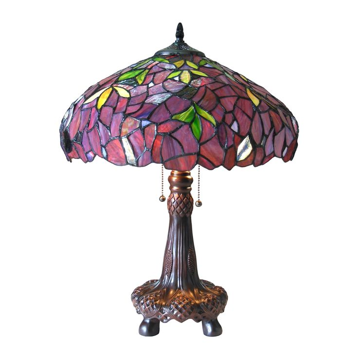 Shop Chloe Lighting  CH18045PW16-TL2 Wisteria Katie 2-Light Tiffany-Style Table Lamp at The Mine. Browse our table lamps, all with free shipping and best price guaranteed.