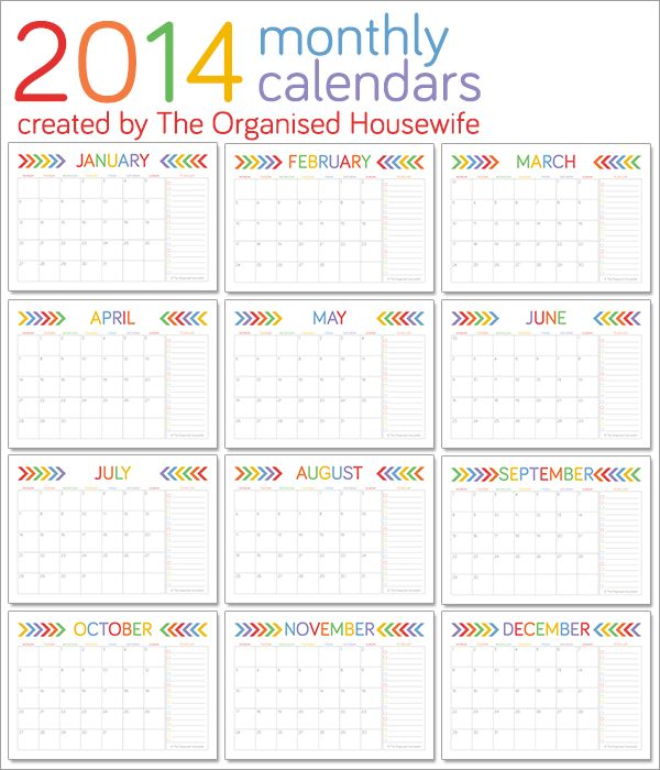 106 Best Printable Calendars Images On Pinterest | Free Printables