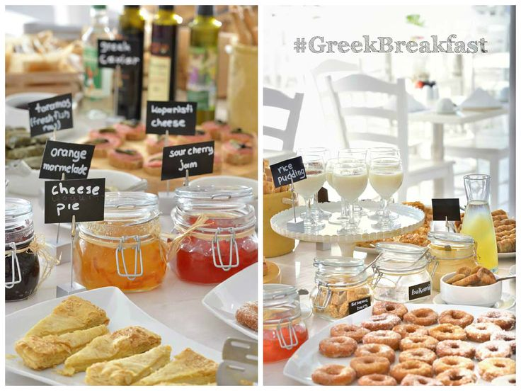 #GreekBreakfast at Palladium Boutique Hotel offers traditional Greek & Myconian delights, our cheerful & welcoming staff, and fab views from our Blé Restaurant, all here to #MakeYourDay!  #Mykonos #Greece #Greek #breakfast #hotel