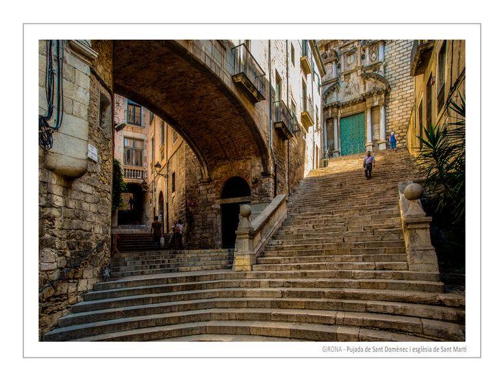 GIRONA Pujada de Sant Domènec i esglèsia de Sant Marti by Andrzej Koliba on 500px