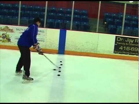 Hockey Drill - Stickhandling Drills (Passing, Toe Drag Stick handling and Shooting)