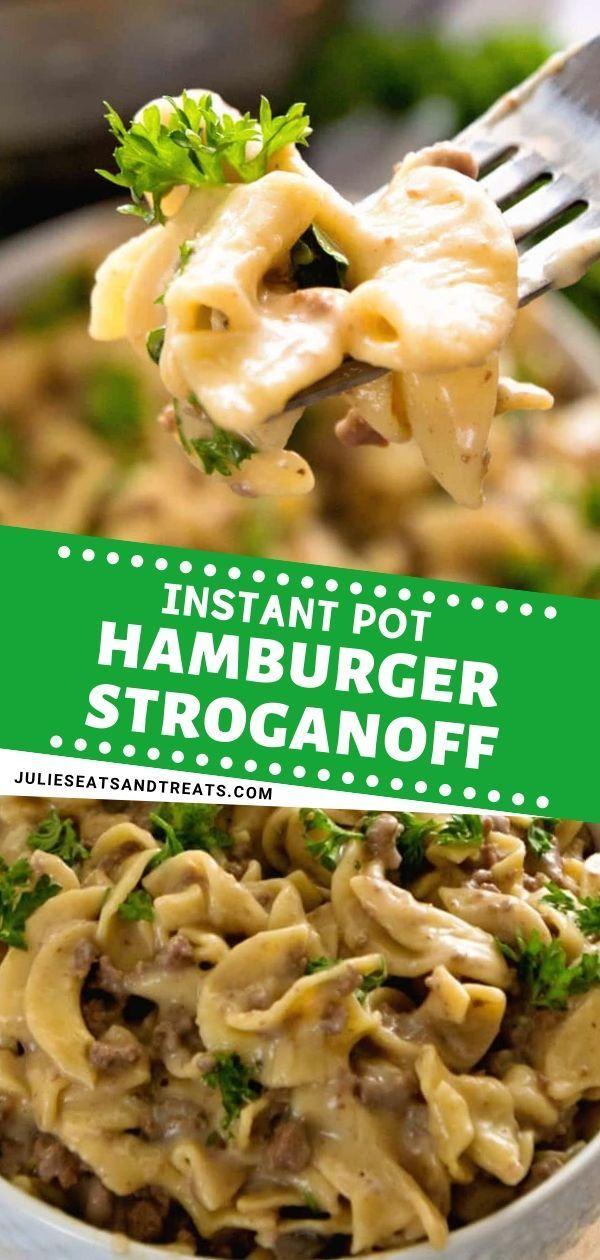 Easy Instant Pot Hamburger Stroganoff Perfect For A Quick Comfort Food Dinner Idea It Is Instant Pot Dinner Recipes Beef Recipes For Dinner Beef Recipes Easy