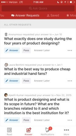 Quora Screenshots