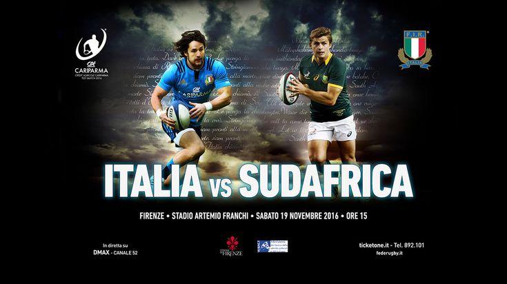 Rugby: Italia VS Sudafrica - Campagna pubblicitaria