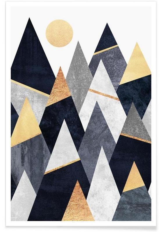 Fancy Mountains als Premium Poster von Elisabeth Fredriksson | JUNIQE
