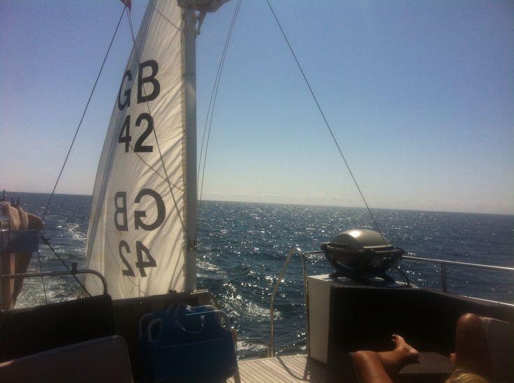 Nice summer cruising pasning Skagerak from Kristiansand NO to Skagen DK..