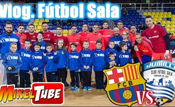 Vlog. Excursión al Partido BARCELONA Vs. JUMILLA  Fútbol Sala