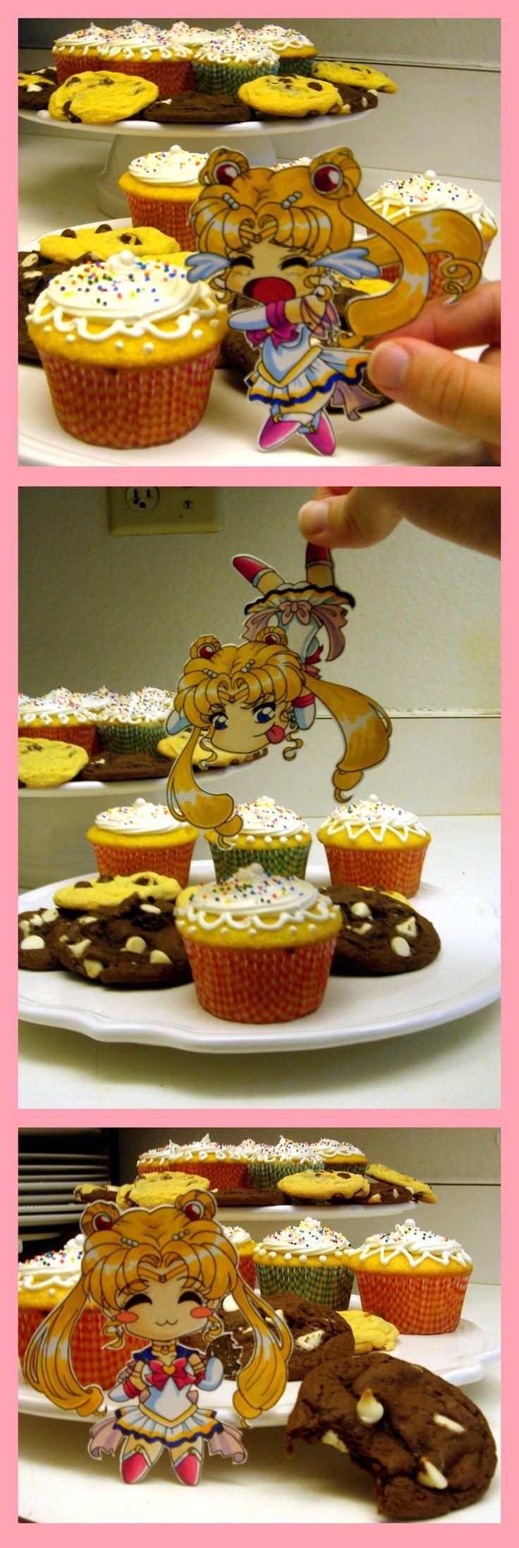 Love the idea! - Paper Child Sailor Moon Omnom by ~ tomo-chi on deviantART