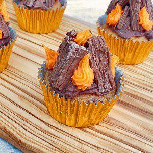 Caramel Bonfire Cupcakes