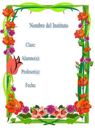 carátulas para trabajos de secundaria primaria - carátulas bonitas para trabajos de ciencias matemáticas español sociales historia, carátulas para imprimir - - bordes decorativos bonitos