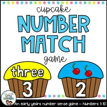 Number Match Game - Cupcakes: With a focus on numbers from 1-10, students will practise essential early number skills such as one to one correspondence and recognition of numerals, number words and visual representations.