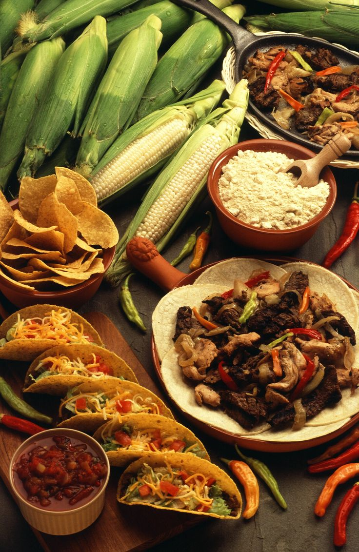 Mexican food with tofu or setan instead of meat is delicious but be careful with too much tortillas and greasy  food, I eat it without fat stuff and I'm slim, http://www.ninaohmanarts.com/