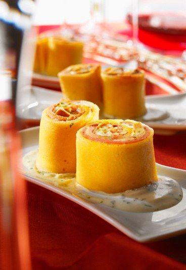 recette de crêpe : recette crèpe au jambon, crepe mortadelle, sushi original - Apéritif dinatoire facile: recettes chic pour un apéritif dinatoire facile - aufeminin