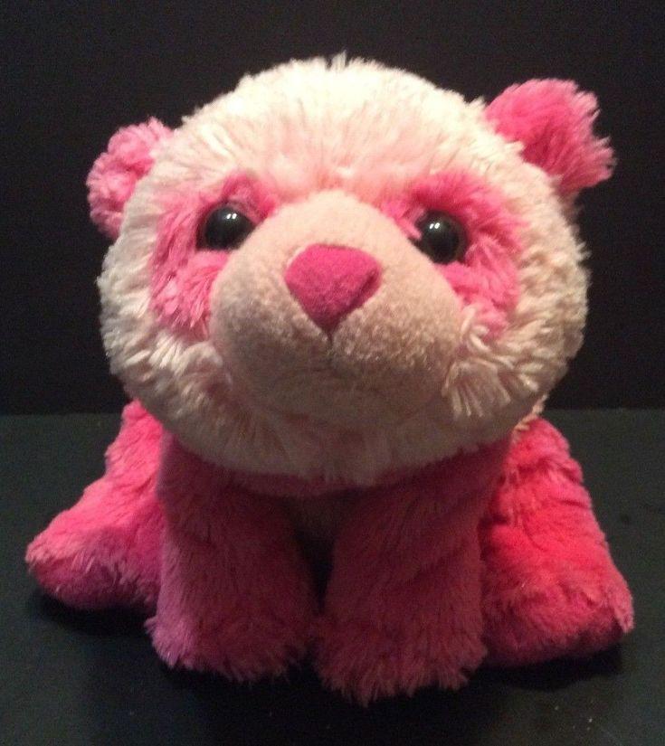 "Wild Republic Pink Panda Bear Plush 12"" Stuffed Animal"
