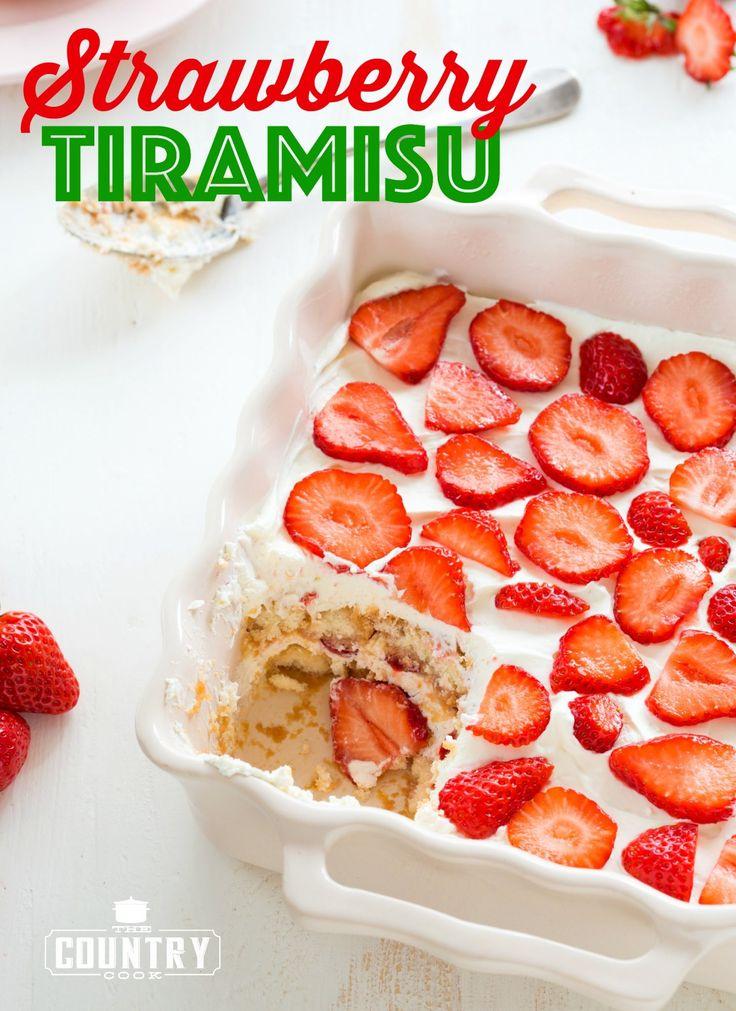 Strawberry Tiramisu   The Country Cook