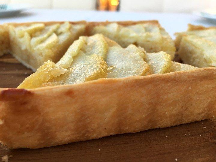 Post: Tarta de pera --> postres fáciles, postres rápidos, recetas postres delikatissen, tarta de pera, tarta masa brisa, tartas fáciles y rápidas, tartas frutas
