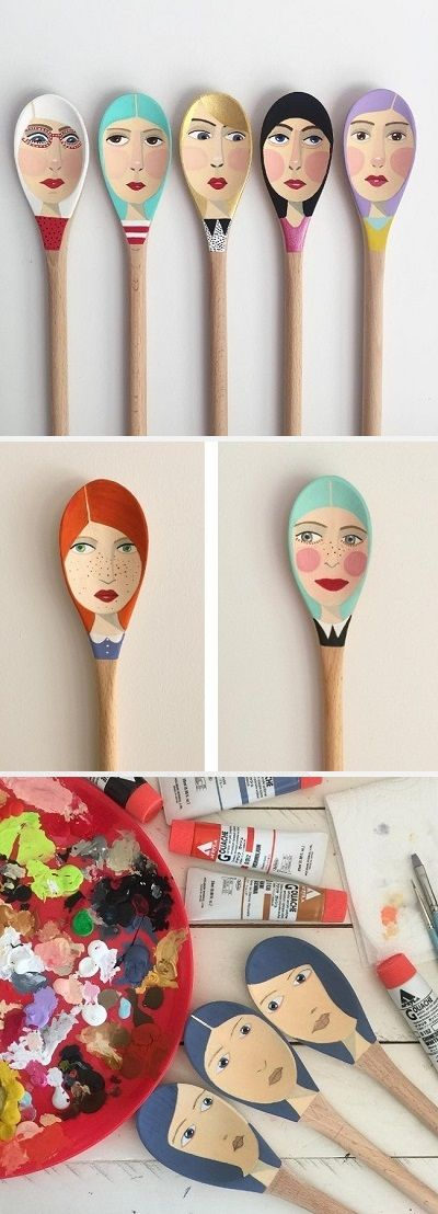 Illustrated spoons by Emma Lisette Palmer / On the Blog!