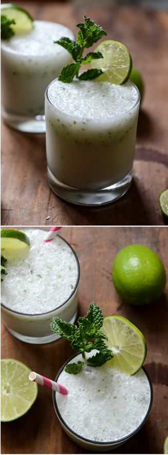 FROSTY COCONUT MOJITOS by @howsweeteats I howsweeteats.com