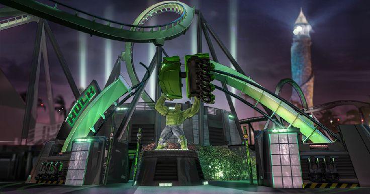 Relançamento da montanha-russa do Hulk em Orlando #viagem #miami #orlando