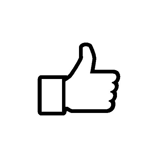 Thumb up to like on Facebook free icon