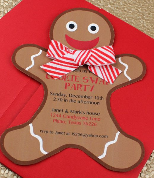 DIY Gingerbread Man Christmas Party Invitation template from #DownloadandPrint. http://www.downloadandprint.com/templates/christmas-invitation-templates-with-gingerbread-man/