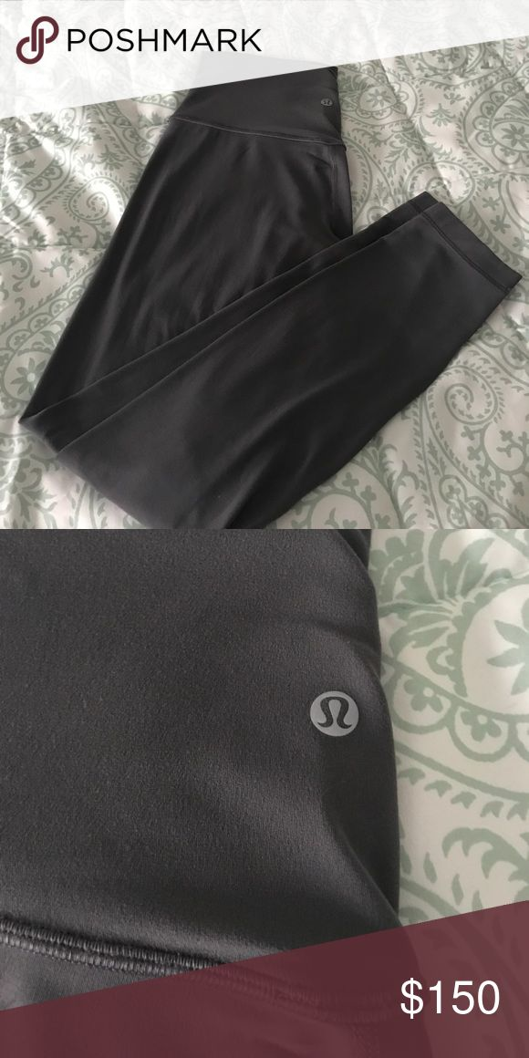 Lululemon align pant dark carbon 6 These are in great condition. Size 6, dark carbon 7/8 length pant. Always washed with other lulu on delicate and hung to dry. Cheaper on Ⓜ️ or 🅿️🅿️. lululemon athletica Pants Leggings