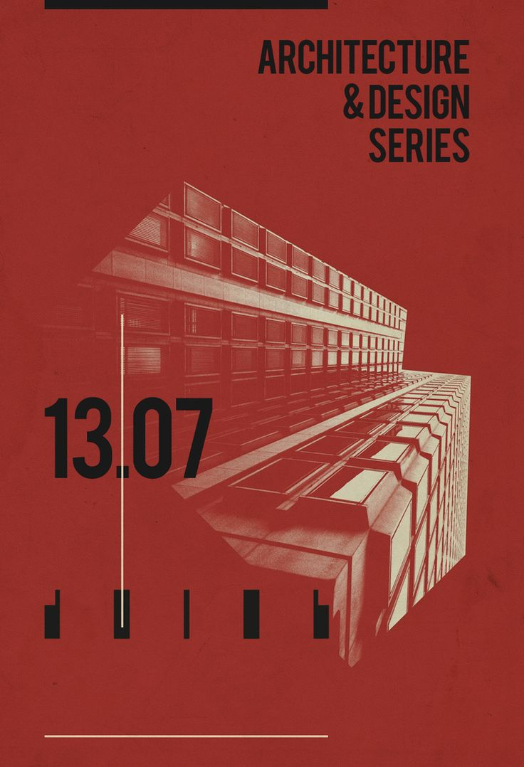 Architecture & Design Series 13.07 / Poster Design / Personal Project