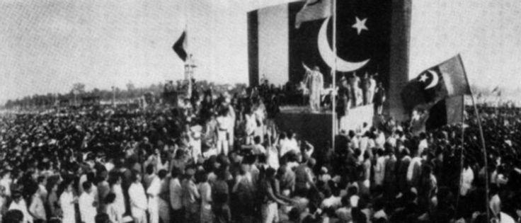 Zulfikar Ali Bhutto addresses the public after taking oath