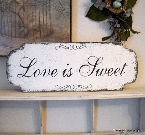 LOVE IS SWEET for your Candy Buffet or Bar by thebackporchshoppe, $38.95