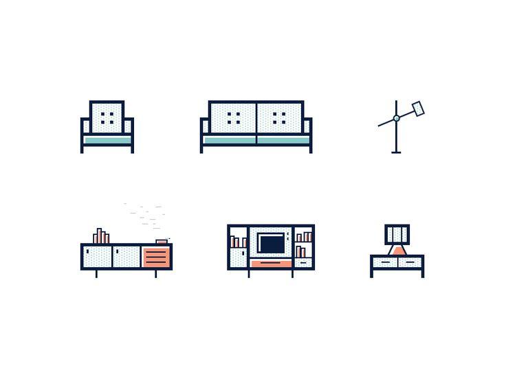 60s Furniture Icons by Dmitri Litvinov