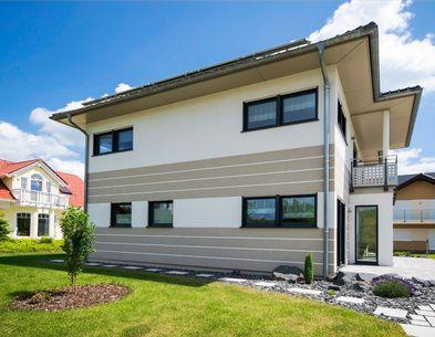 Fassadengestaltung einfamilienhaus grau orange  39 besten Fassade Bilder auf Pinterest | Wohnen, Fassadenfarbe und ...